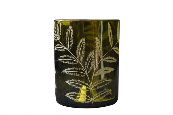 Boho Eatery - Fougere glass green scaled